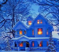 Snowy House for Christmas