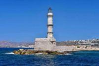 Chania Lighthouse Crete Greece