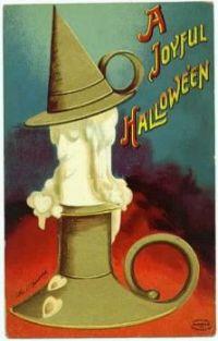Buckeye (greenseal) Halloween postcard from 1913