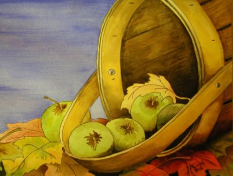 Fall Apple Basket - my own painting