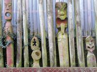 contempary Maori sculptured fencing