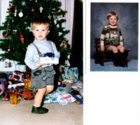 The family Lederhosen.  20 years apart.