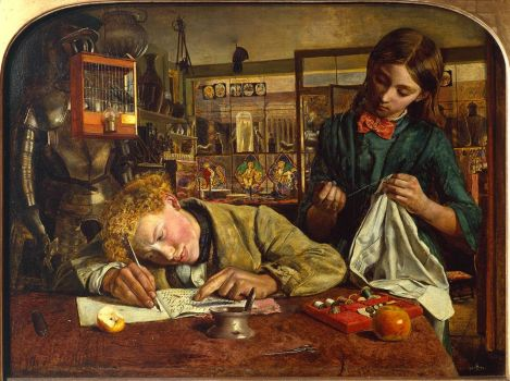Kit's Writing Lesson by Robert Braithwaite Martineau