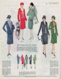 Vintage Fashion - L'Echo 1926