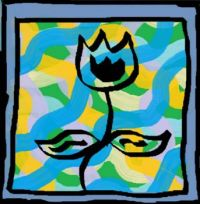Crazily Framed Flower Abstract Doodle