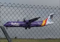 Flybe landing at Ronaldsway, Isle of Man