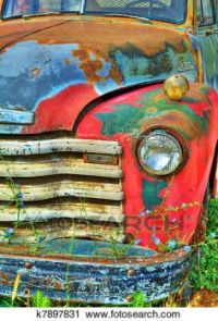 Colorful Vintage Truck