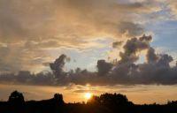 sunset, yesterday