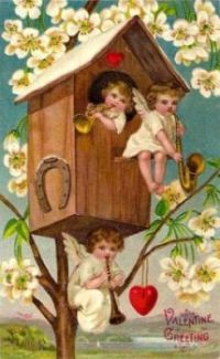 vintage valentine birdhouse