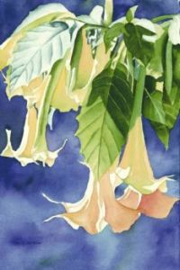 Trumpets Glowing Watercolor painting
