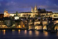 Prague Castle at dusk