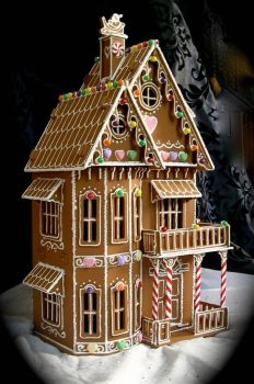 Faux Gingerbread House in the Victorian style by janiechampagnie on Etsy