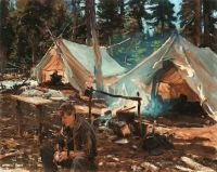 John Singer Sargent--Tents at Lake O'Hara, 1916
