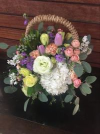 Gift Basket....Lovely combination of Flowers.