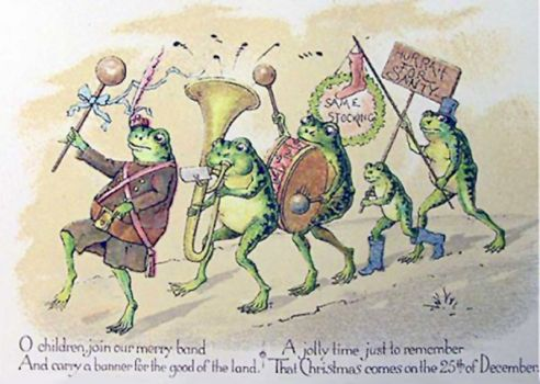 Happy Christmas from the merry frog band