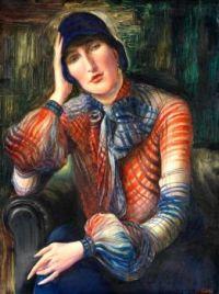Albert Birkle (German, 1900–1986), Portrait of a Woman (Elisabeth Starosta with a Chiffon Blouse and Hat) (1923)