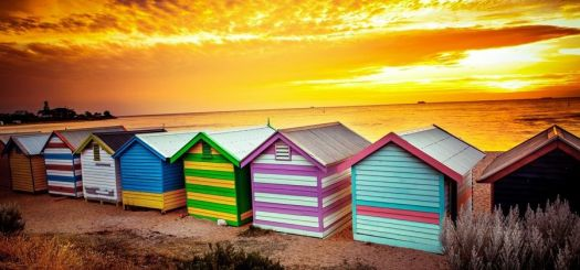 Colourful cabins