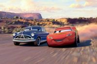 Doc Hudson and Lightning McQueen