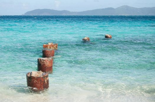 Remnants of an Old Pier - St John