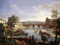 Caspar_van_Wittel_-_Castel_Sant'Angelo_from_the_South_-_WGA25823