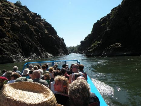 Jet Boat ride on the Rogue River- going through Hell's Canyon