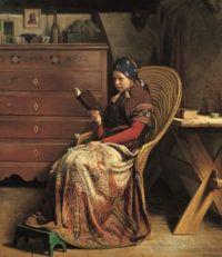 """Christen Dalsgaard, """"A Convalescent"""", 1870"""