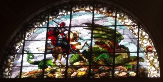 Stained glass window, St George's Hall, Liverpool