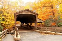Covered Bridge in the Woods