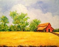 Wheat Field and Barn