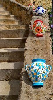 Ceramics on the steps