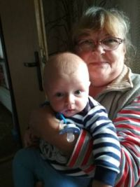 Lovely greetings from me and my grandson  Oliver♥♥♥
