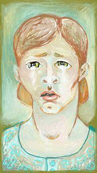 HUMAN EMOTIONS ,  # 1 , - MISERY  (digital (ArtRage)  drawing )