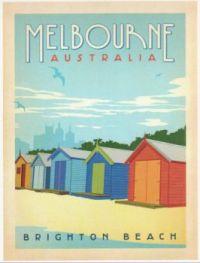 Vintage Travel Poster: Melbourne Australia