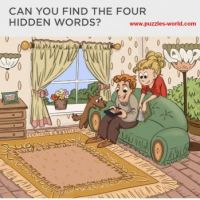 Can you Find the 4 Hidden Words?