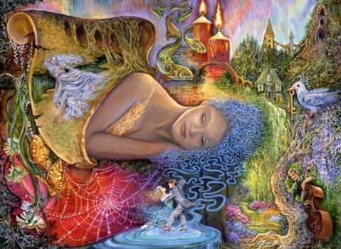 Dreaming in Colour by artist Josephine Wall
