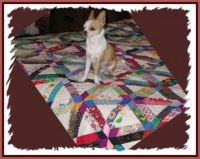 scrappy quilt - pattern name in magazine was 'Road to Florida'  - re-post