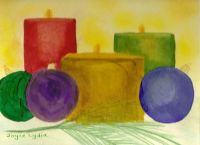 Watercolor Candles