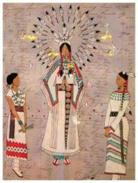 Ledger art by Sheridan MacKnight (Chippewa/Lakota)