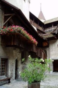 Courtyard, Chateau Chillon