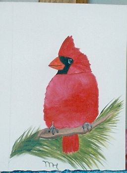 My painting of a cardinal