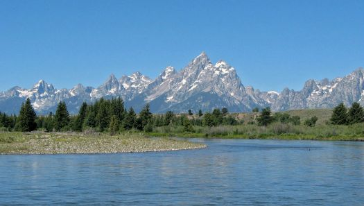 Grand Tetons from the Snake River 3