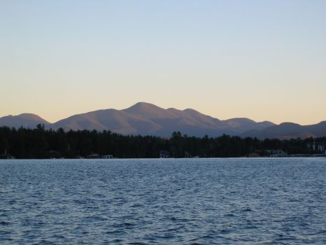 The Sentinel Range viewed from Lake Placid, NY.