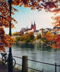 Basel, by the river Rhine, Switzerland