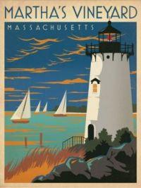 Vintage Travel Poster Martha's Vineyard