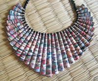 A Paper Collar Choker Necklace