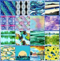River Run Collage Challenge