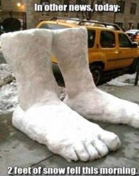 2 Feet of Snow.....