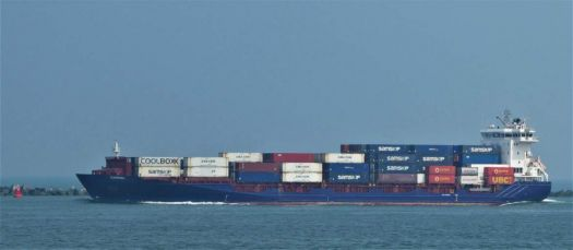 Loaded container ships leaving the Rotterdam port, with ?? and going to ??.......