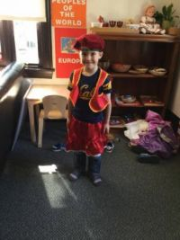 5 yrs-old California Grandson Dresses Himself...
