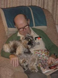 Dad and his dog Barney